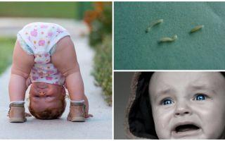 Symtom och behandling av pinworms i ett barn