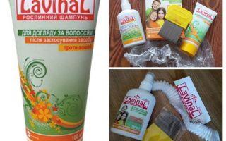 Shampoo och spray-lavinal mot löss och nits