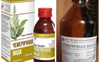 Chemerichnaya vatten från löss och nits metod
