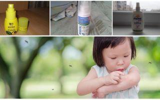 Effektiva myggmedel för barn från 1 år