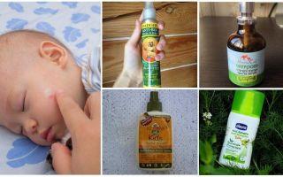 Fonder från myggor och midger för barn under 1 år